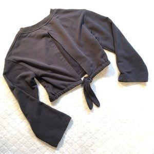 Mod ref open back tied cropped sweatshirt/s